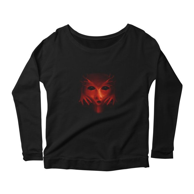 Alien Devil  Women's Longsleeve Scoopneck  by Allison Low Art