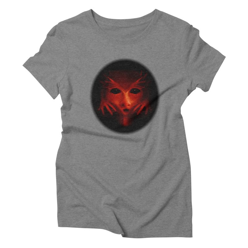 Alien Devil Women's Triblend T-Shirt by Allison Low Art