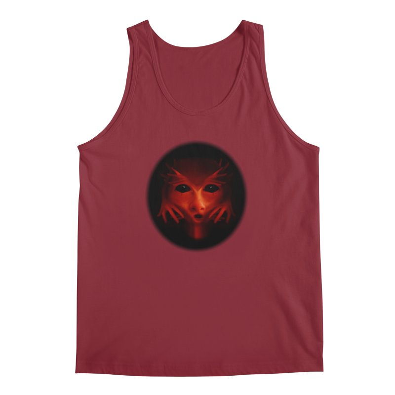 Alien Devil  Men's Tank by Allison Low Art
