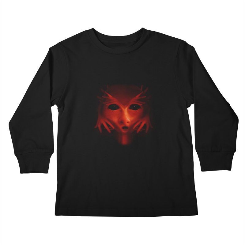 Alien Devil Kids Longsleeve T-Shirt by Allison Low Art