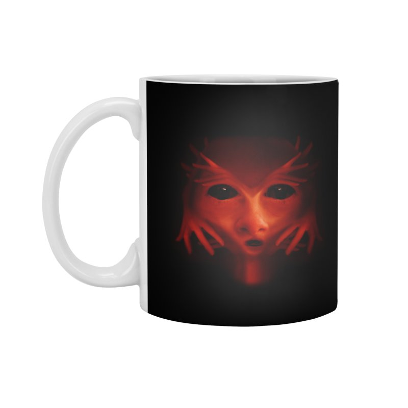Alien Devil Accessories Mug by Allison Low Art