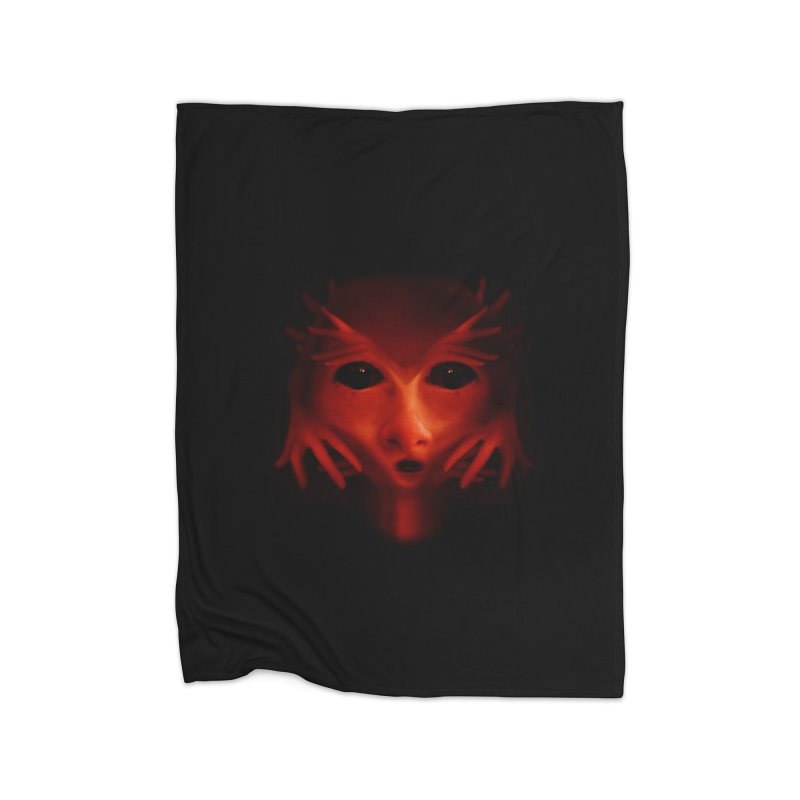 Alien Devil Home Blanket by Allison Low Art