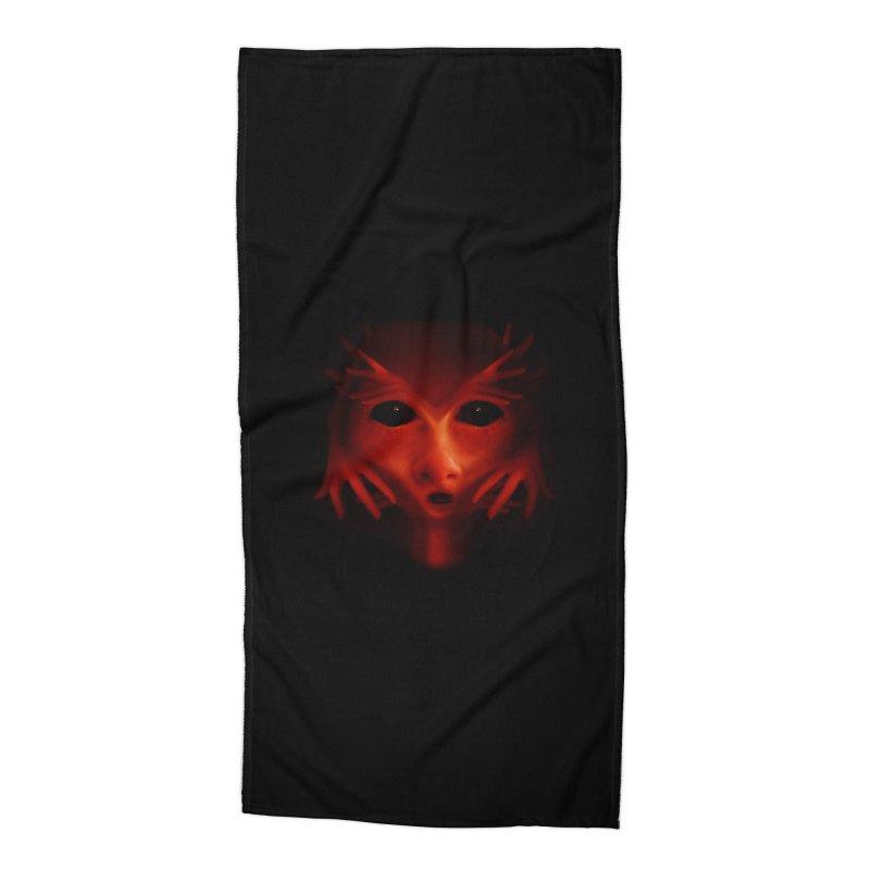 Alien Devil Accessories Beach Towel by Allison Low Art