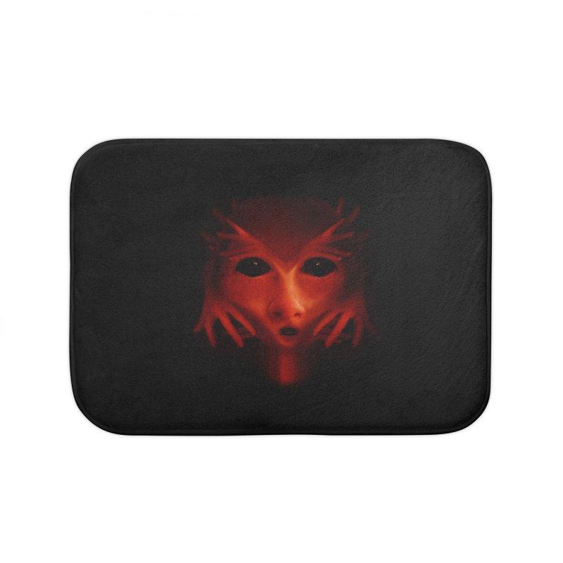Alien Devil Home Bath Mat by Allison Low Art