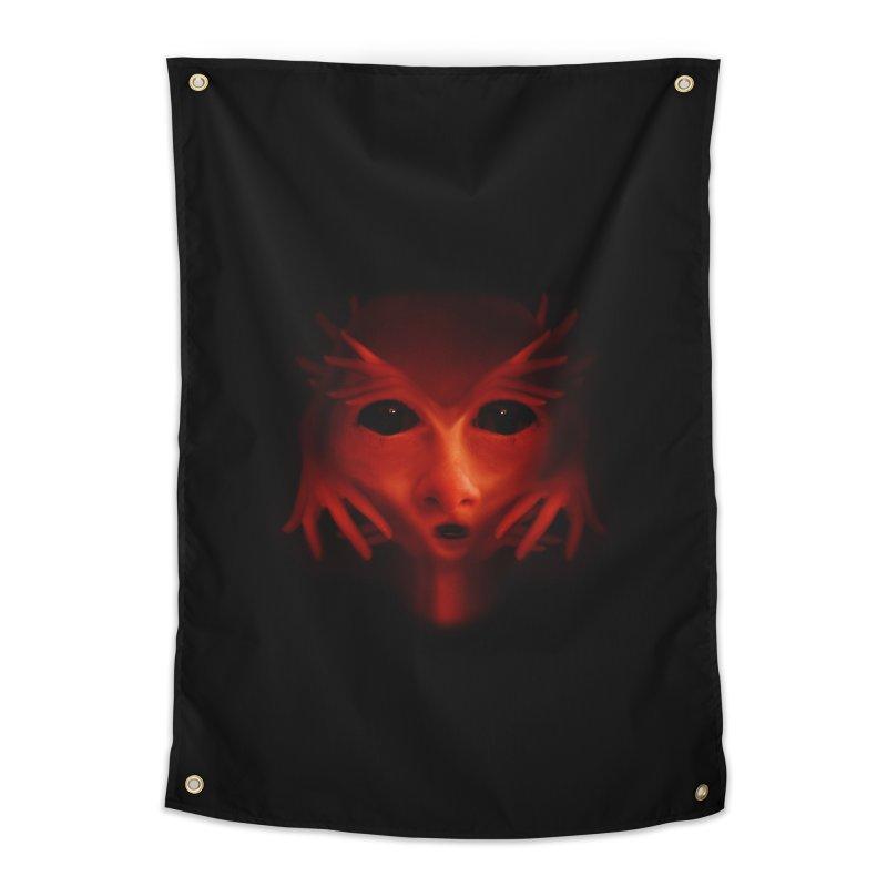 Alien Devil Home Tapestry by Allison Low Art
