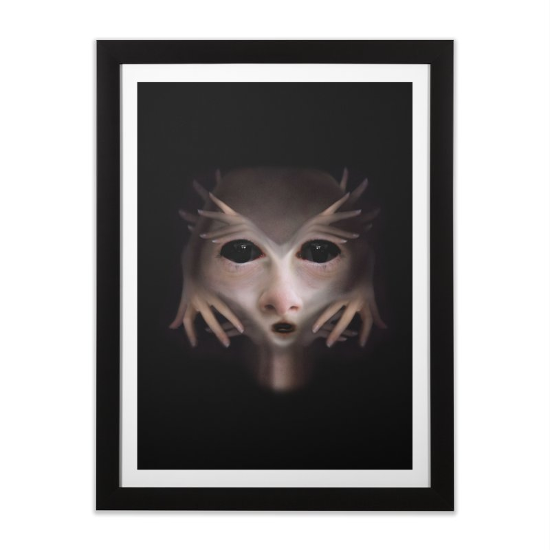 Alien Flesh Home Framed Fine Art Print by Allison Low Art