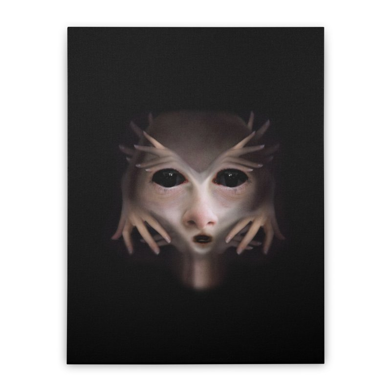 Alien Flesh Home Stretched Canvas by Allison Low Art