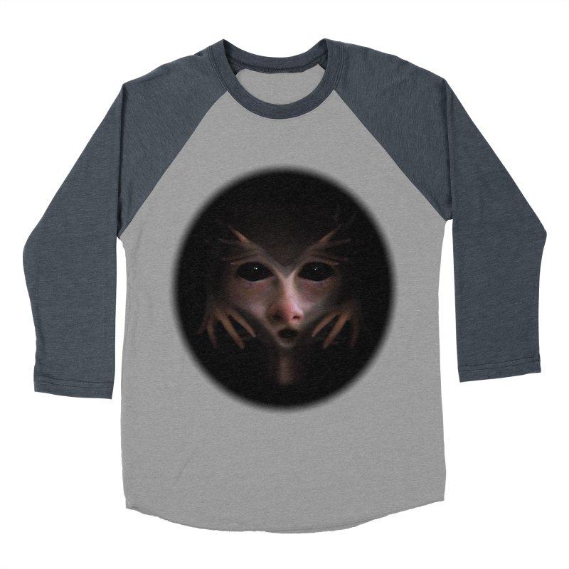 Alien Flesh Men's Baseball Triblend T-Shirt by Allison Low Art