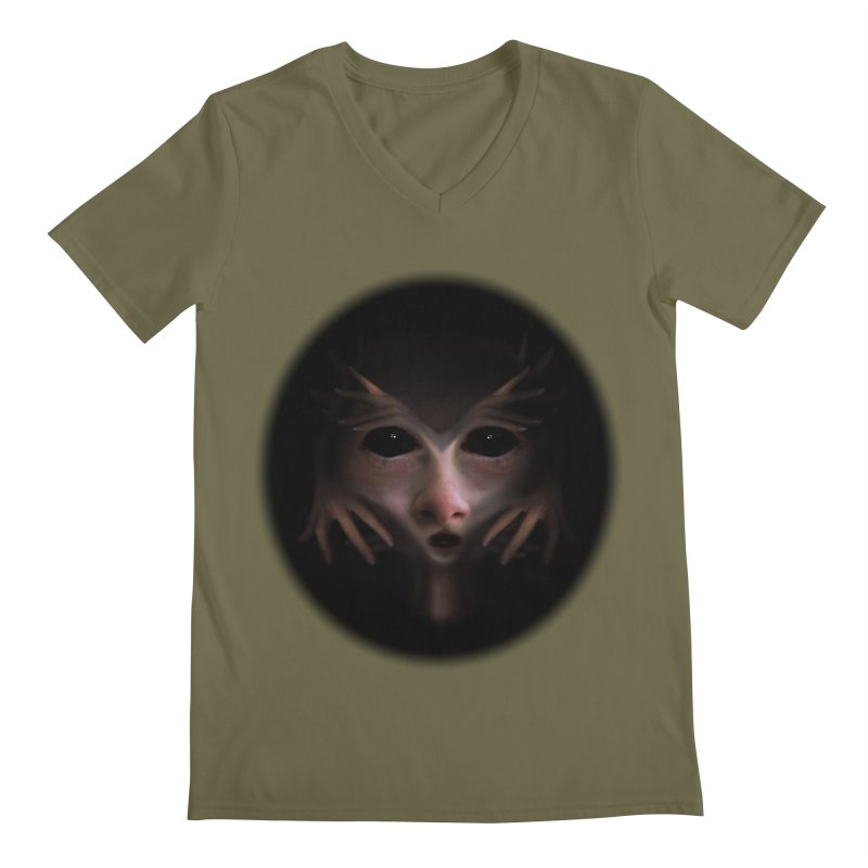 Alien Flesh Men's Regular V-Neck by Allison Low Art