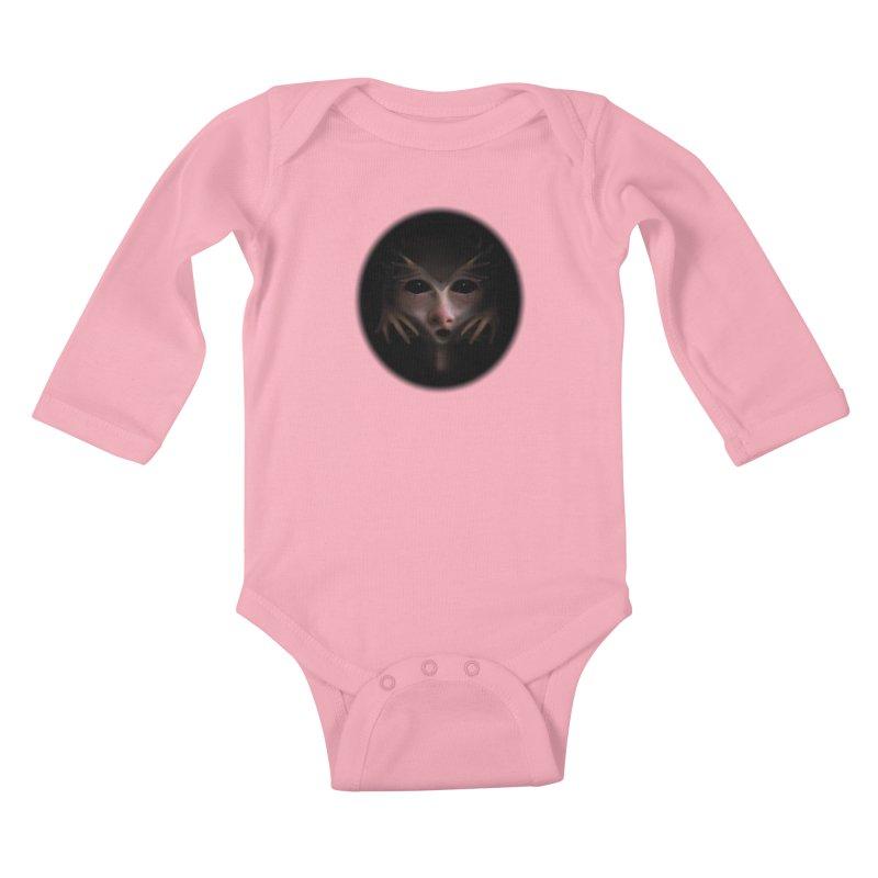 Alien Flesh Kids Baby Longsleeve Bodysuit by Allison Low Art