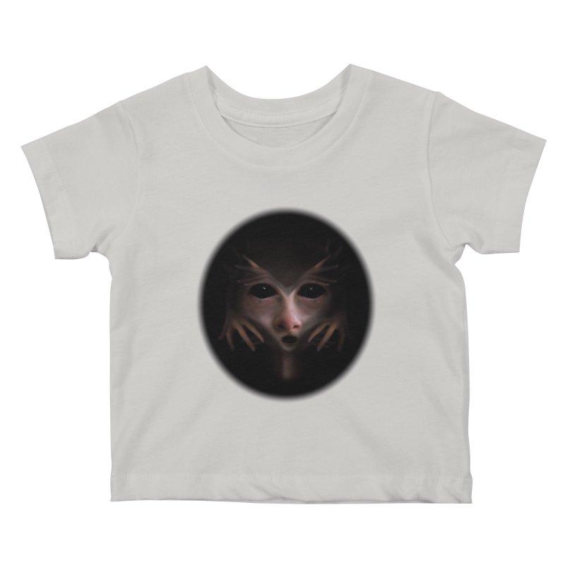 Alien Flesh Kids Baby T-Shirt by Allison Low Art