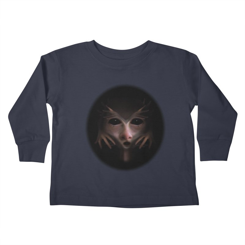 Alien Flesh Kids Toddler Longsleeve T-Shirt by Allison Low Art