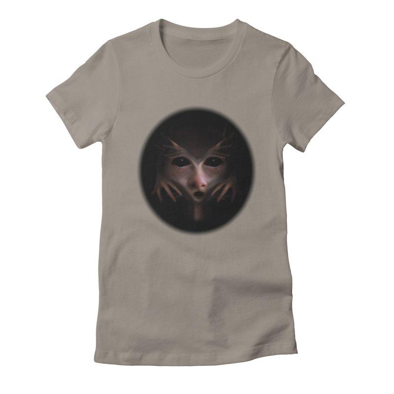 Alien Flesh Women's Fitted T-Shirt by Allison Low Art
