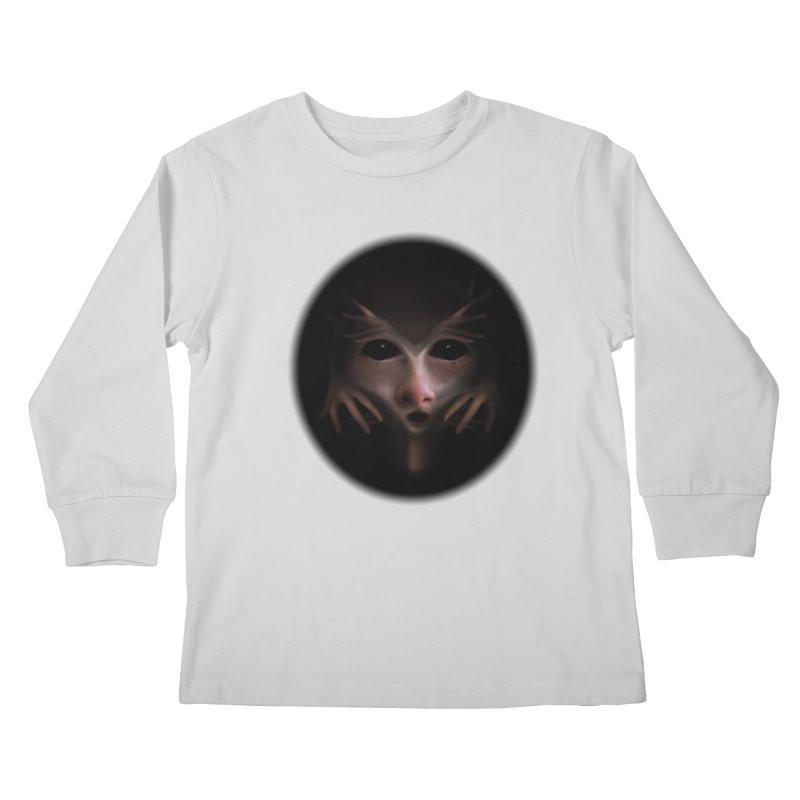 Alien Flesh Kids Longsleeve T-Shirt by Allison Low Art