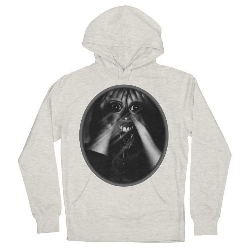 Horror Hands Men's French Terry Pullover Hoody by Allison Low Art