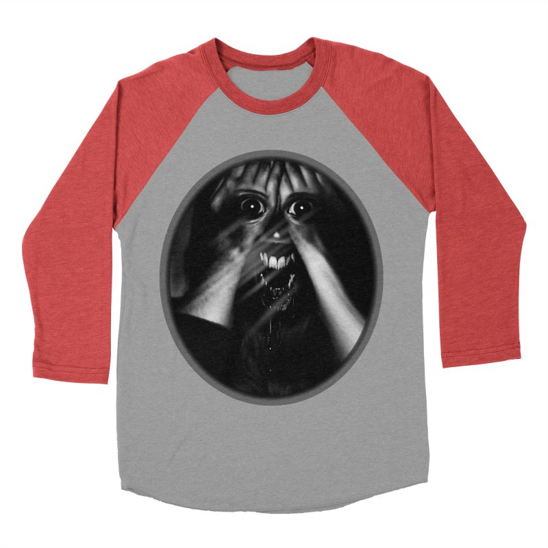Horror Hands Women's Baseball Triblend T-Shirt by Allison Low Art