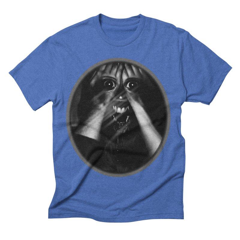 Horror Hands Men's Triblend T-shirt by Allison Low Art