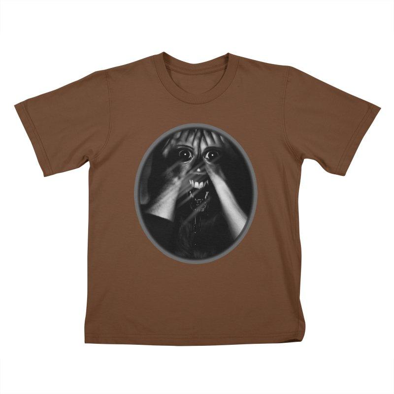 Horror Hands Kids T-Shirt by Allison Low Art