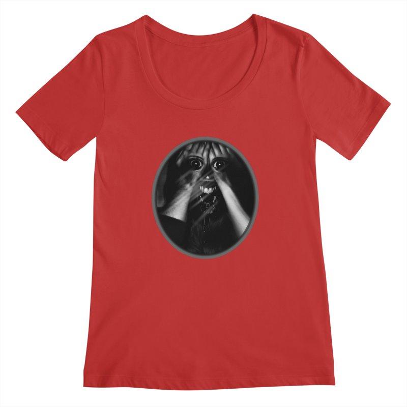Horror Hands Women's Scoopneck by Allison Low Art