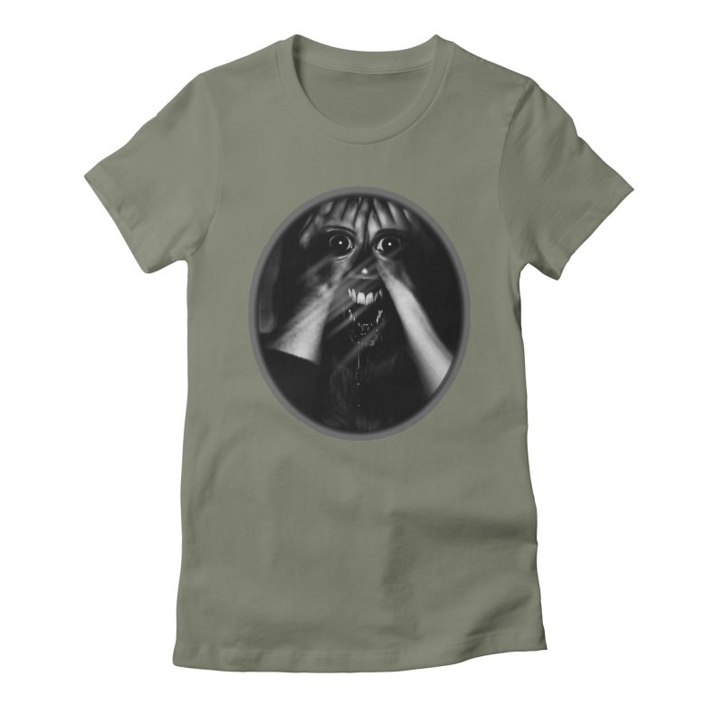Horror Hands Women's Fitted T-Shirt by Allison Low Art