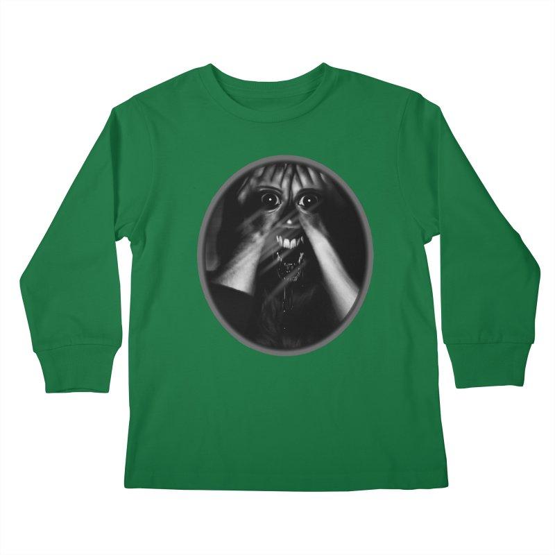 Horror Hands Kids Longsleeve T-Shirt by Allison Low Art