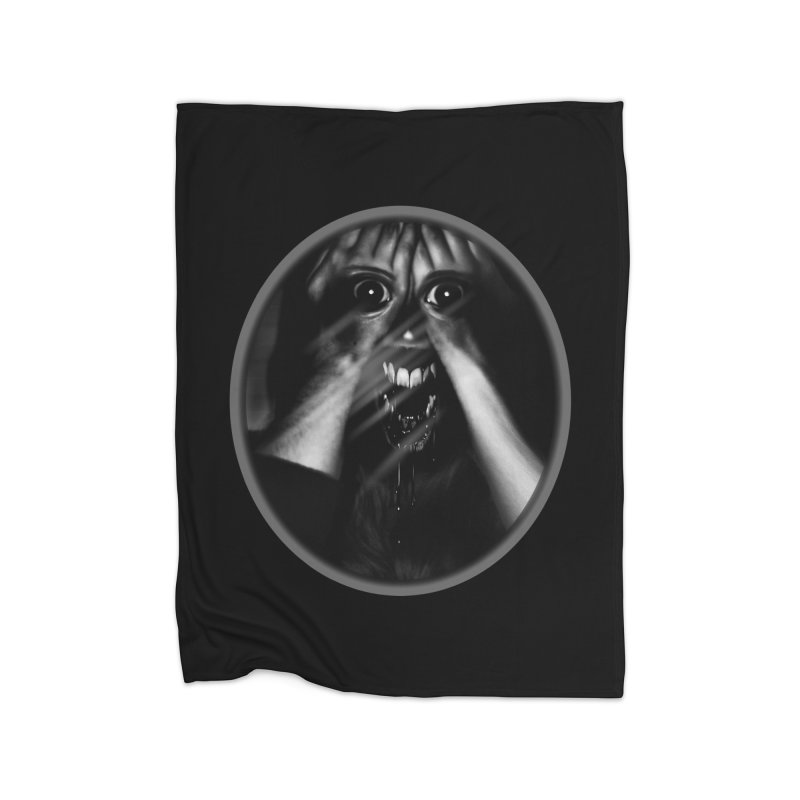 Horror Hands Home Blanket by Allison Low Art