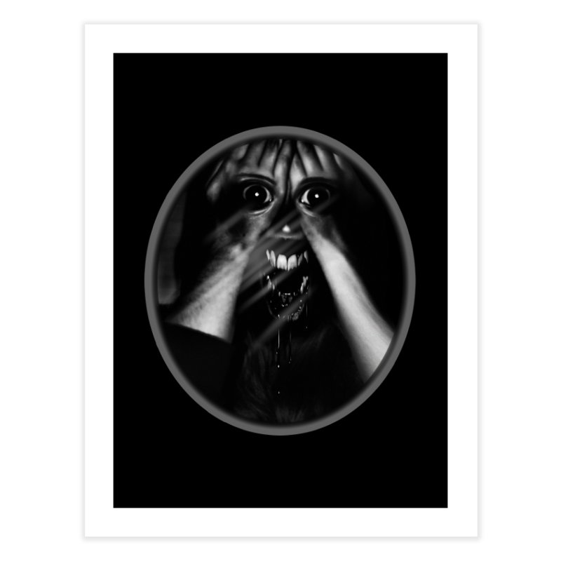 Horror Hands Home Fine Art Print by Allison Low Art