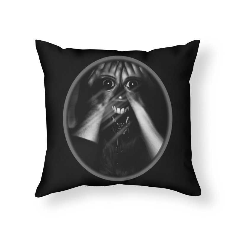 Horror Hands Home Throw Pillow by Allison Low Art