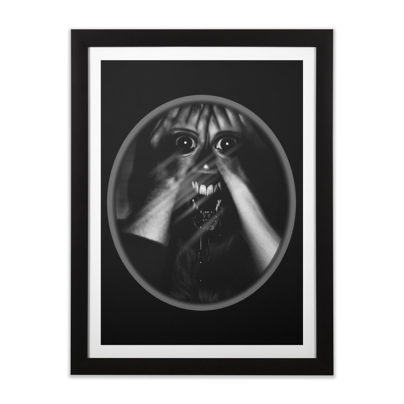 Horror Hands Home Framed Fine Art Print by Allison Low Art