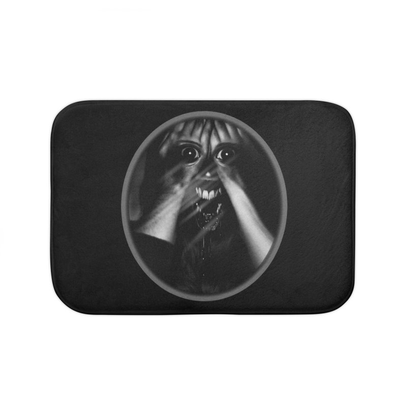 Horror Hands Home Bath Mat by Allison Low Art