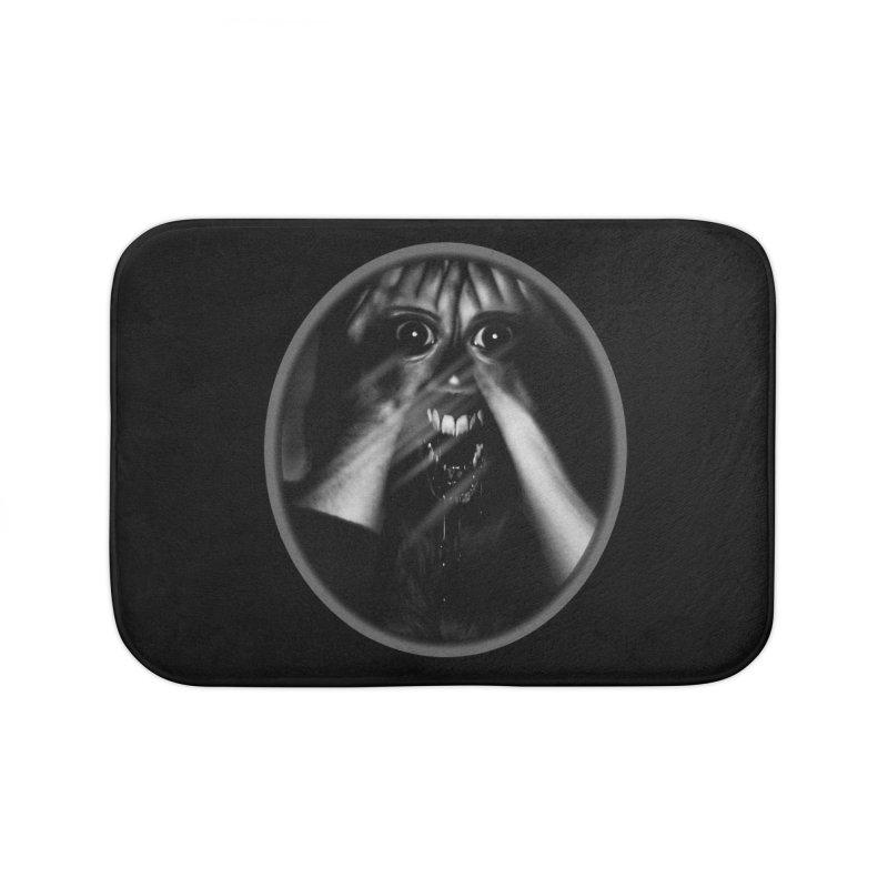 Horror Hands Home Bath Mat by Allison Low Art