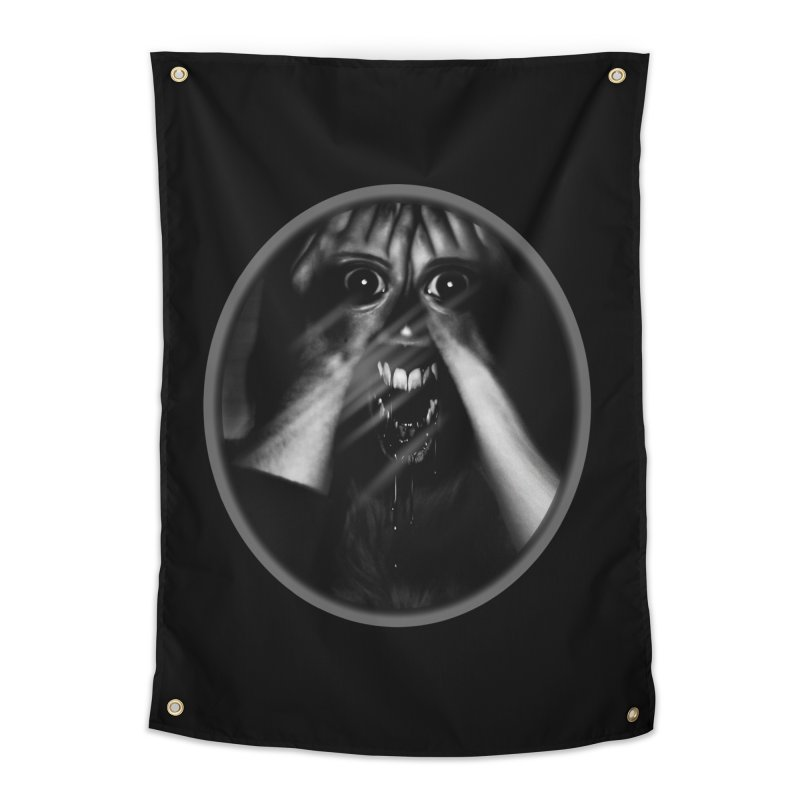 Horror Hands Home Tapestry by Allison Low Art
