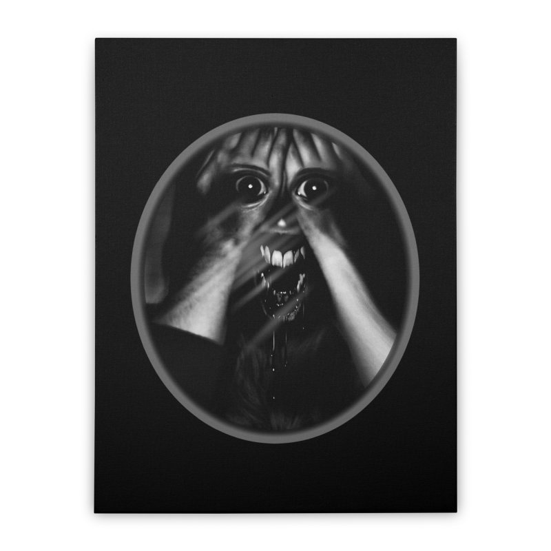 Horror Hands Home Stretched Canvas by Allison Low Art