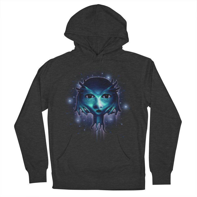 Alien Head Men's Pullover Hoody by Allison Low Art