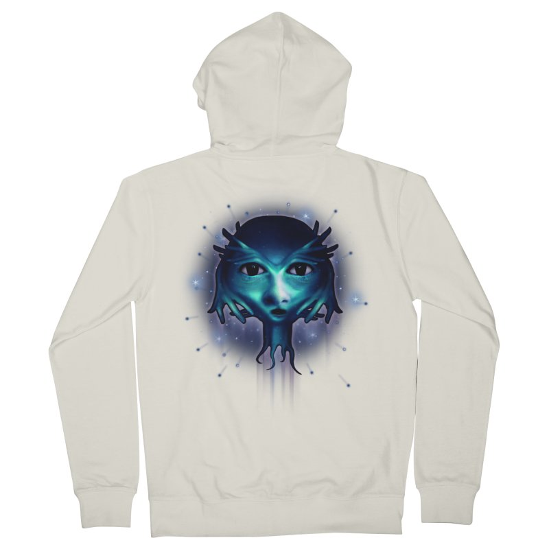 Alien Head Men's Zip-Up Hoody by Allison Low Art