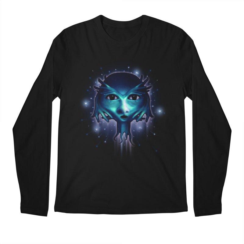 Alien Head Men's Longsleeve T-Shirt by Allison Low Art
