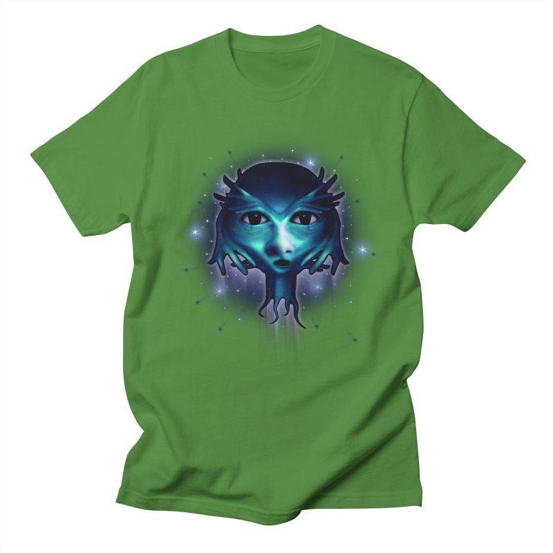Alien Head Men's Regular T-Shirt by Allison Low Art
