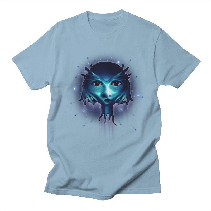 Alien Head Men's T-shirt by Allison Low Art