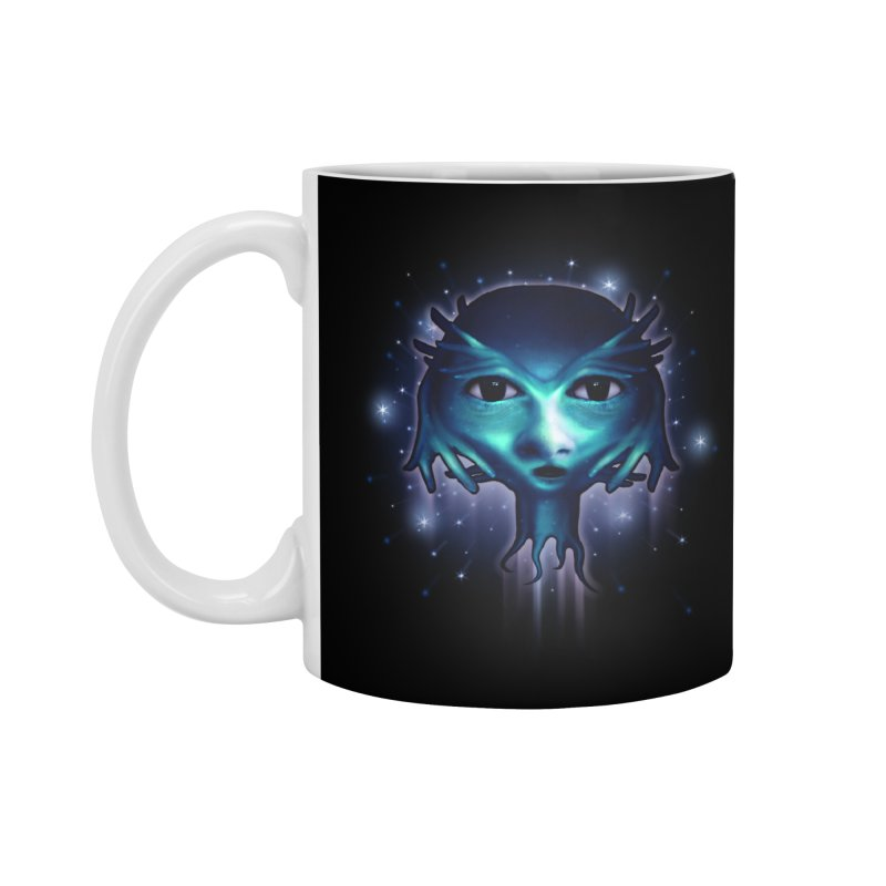 Alien Head Accessories Mug by Allison Low Art