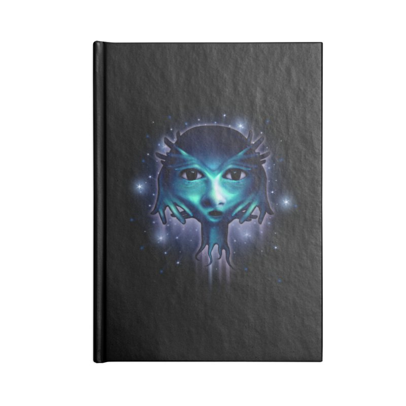 Alien Head Accessories Notebook by Allison Low Art