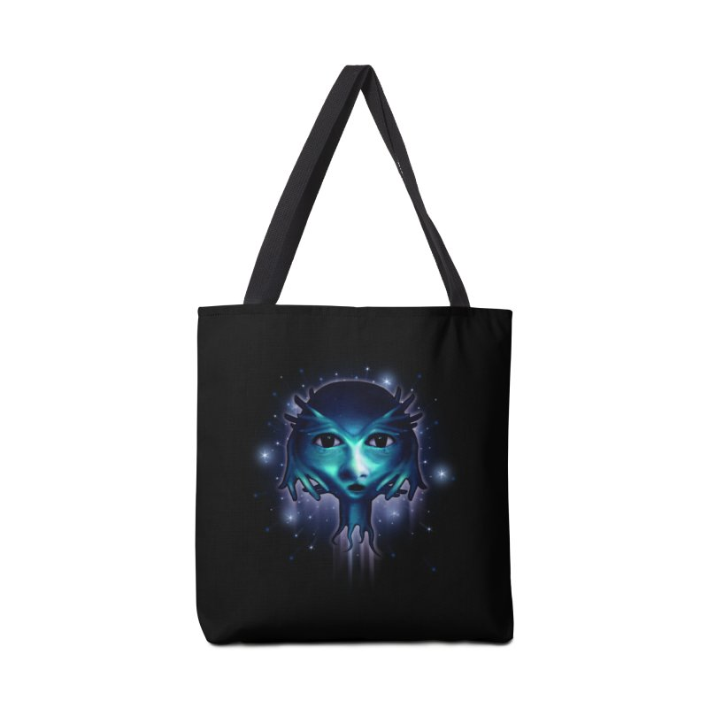 Alien Head Accessories Bag by Allison Low Art