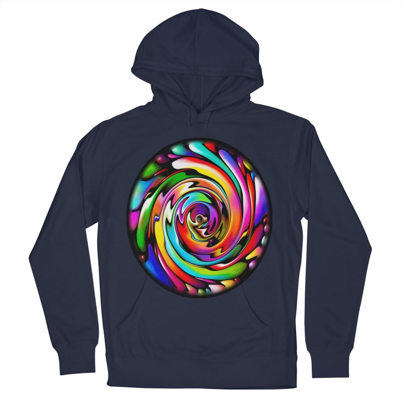 Rainbow Portal Women's French Terry Pullover Hoody by Allison Low Art
