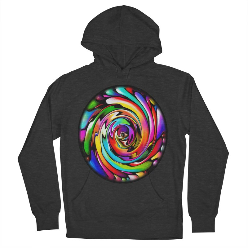 Rainbow Portal Men's Pullover Hoody by Allison Low Art