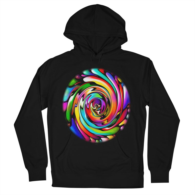 Rainbow Portal Men's French Terry Pullover Hoody by Allison Low Art