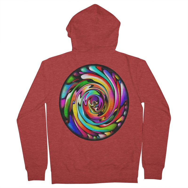 Rainbow Portal Women's French Terry Zip-Up Hoody by Allison Low Art