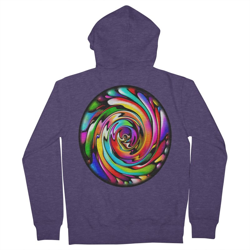 Rainbow Portal Men's Zip-Up Hoody by Allison Low Art