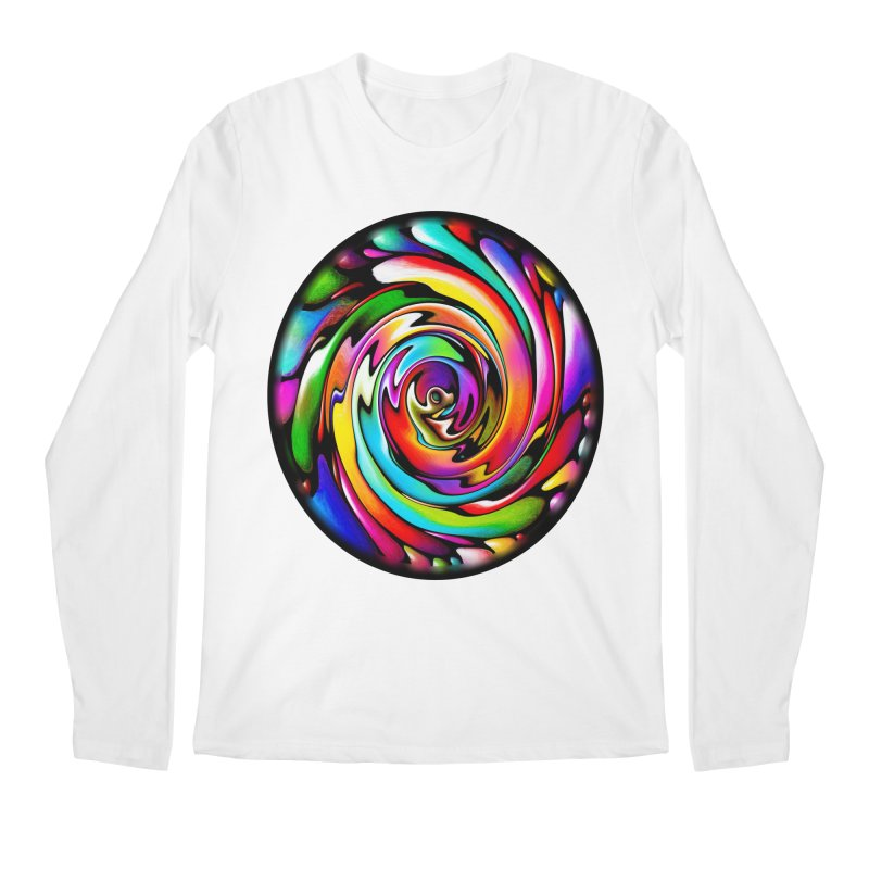 Rainbow Portal Men's Regular Longsleeve T-Shirt by Allison Low Art