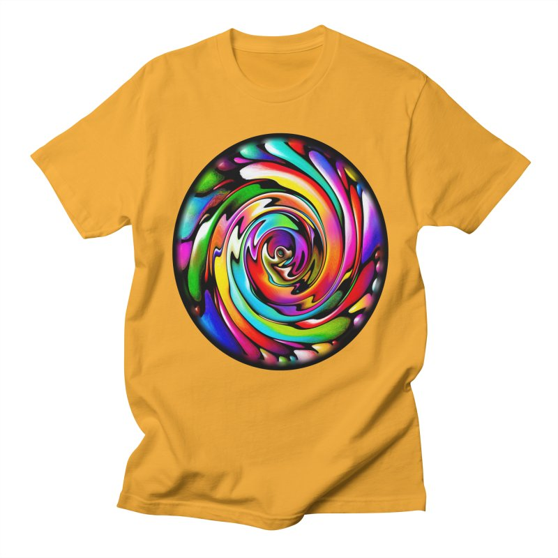 Rainbow Portal Men's T-shirt by Allison Low Art