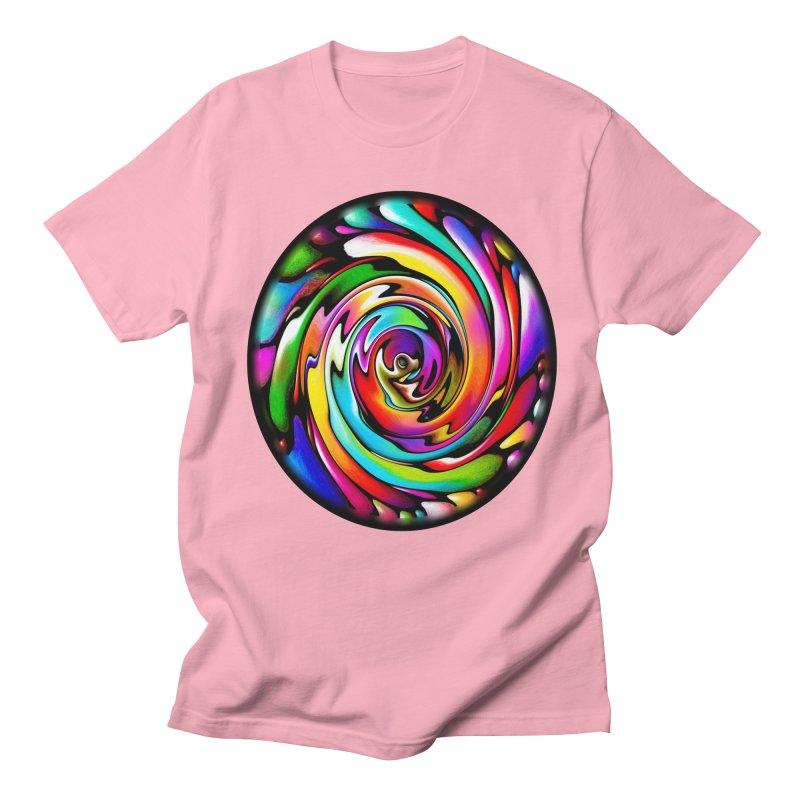 Rainbow Portal Men's Regular T-Shirt by Allison Low Art