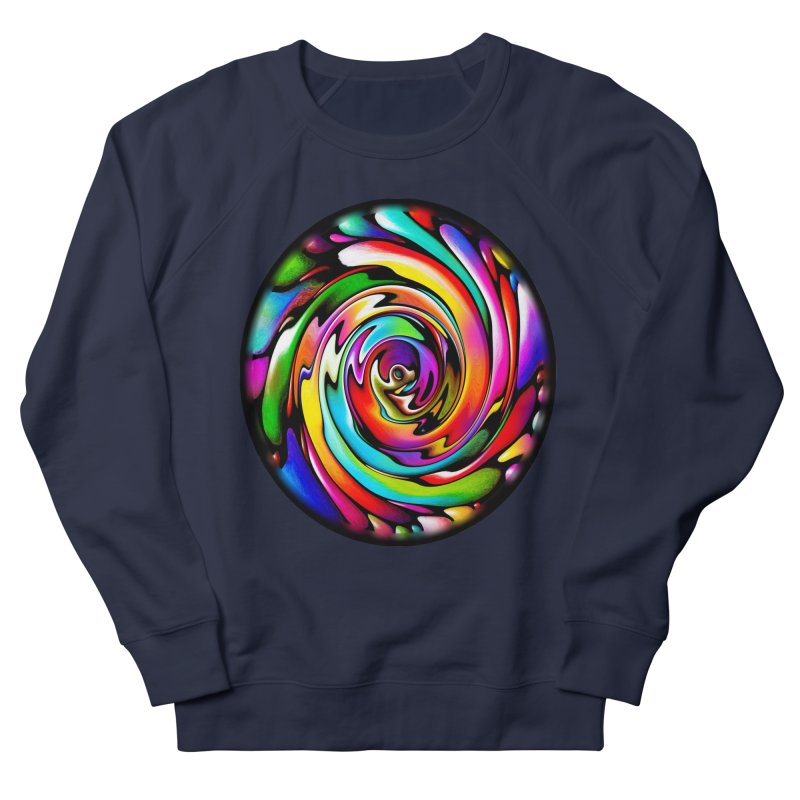 Rainbow Portal Men's French Terry Sweatshirt by Allison Low Art